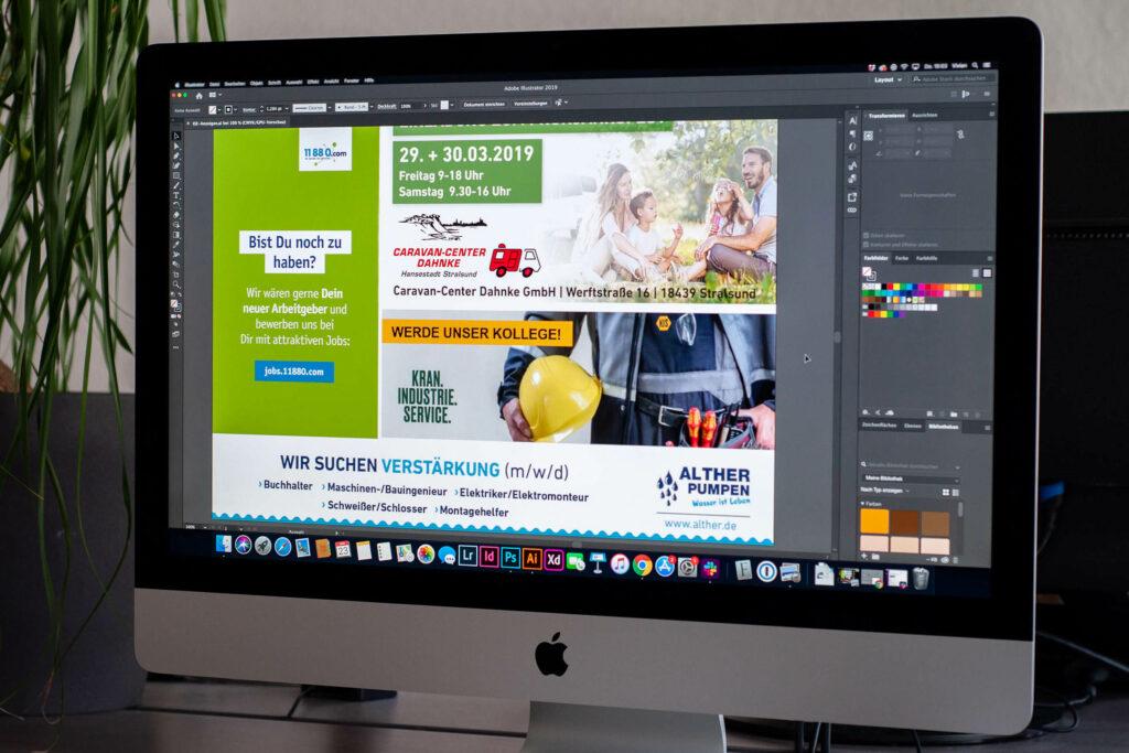 Zeitung Design Anzeige
