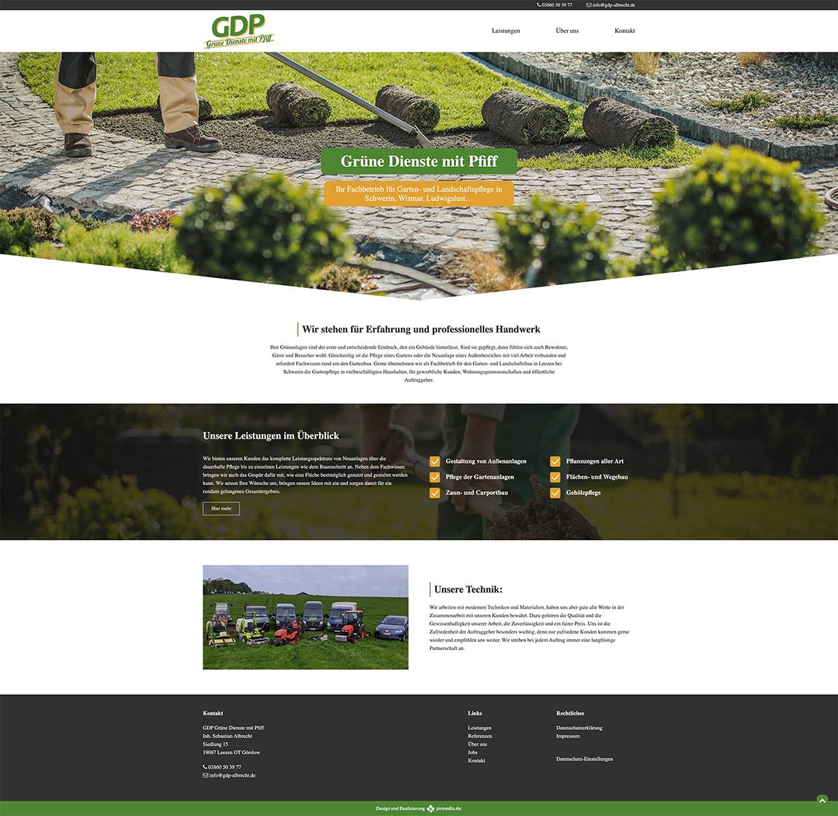 Website Starseite Design