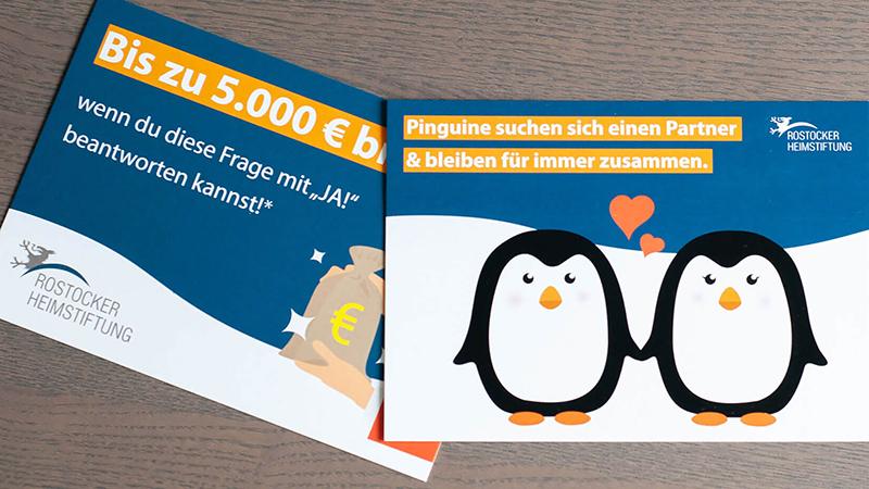 Postkarte Werbung Recruiting
