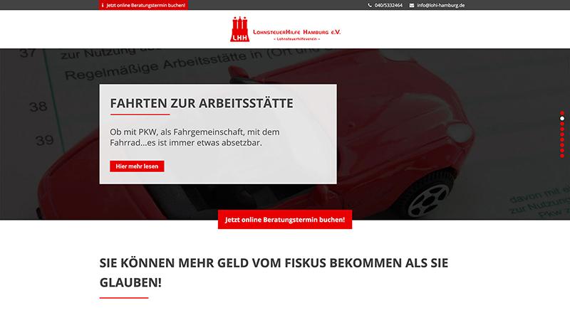 Lohnsteuer Website Webdesign