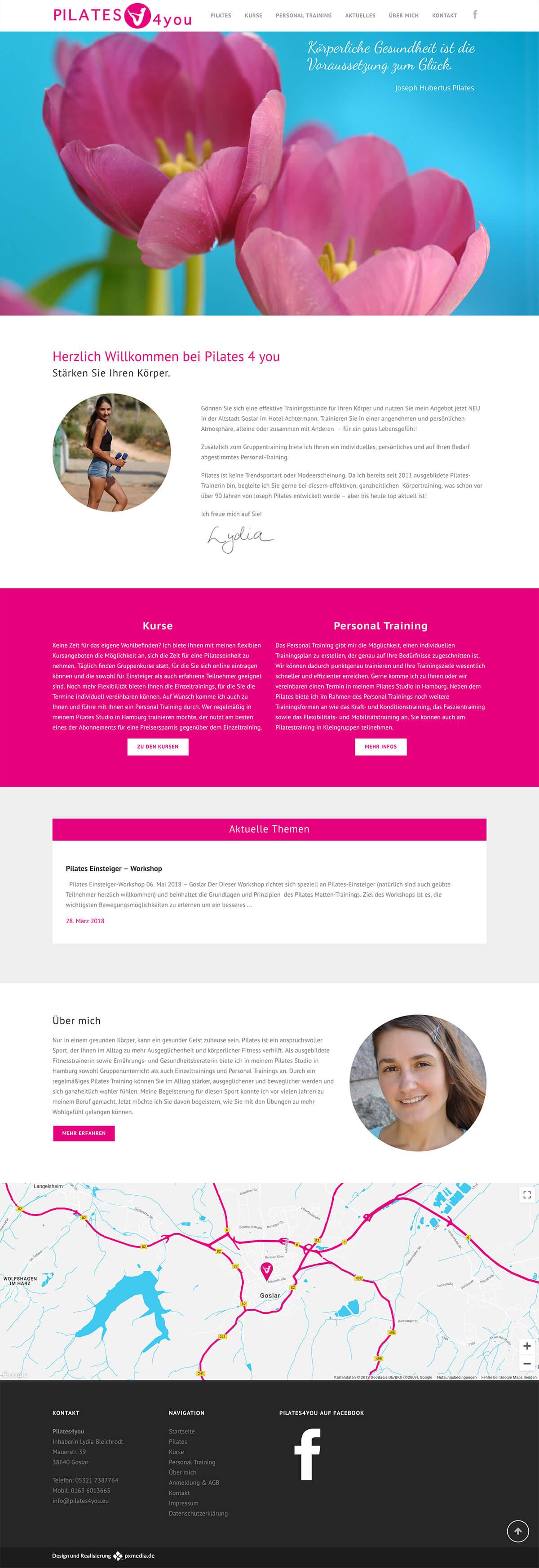 Pilates Webdesign Hamburg