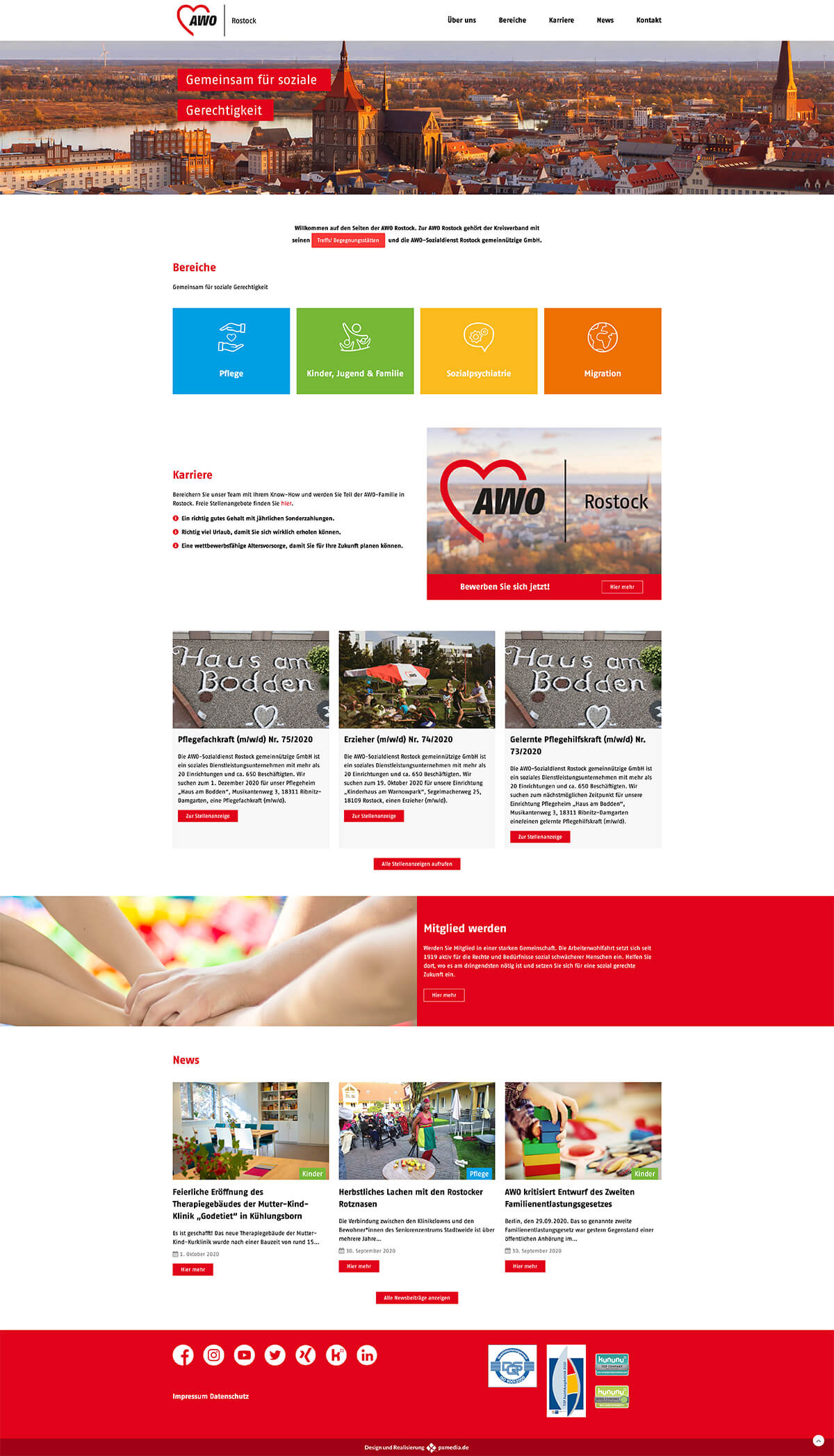 AWO Homepage Rostock