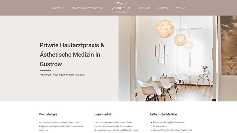 Webdesign Agentur Rostock Hautarzt