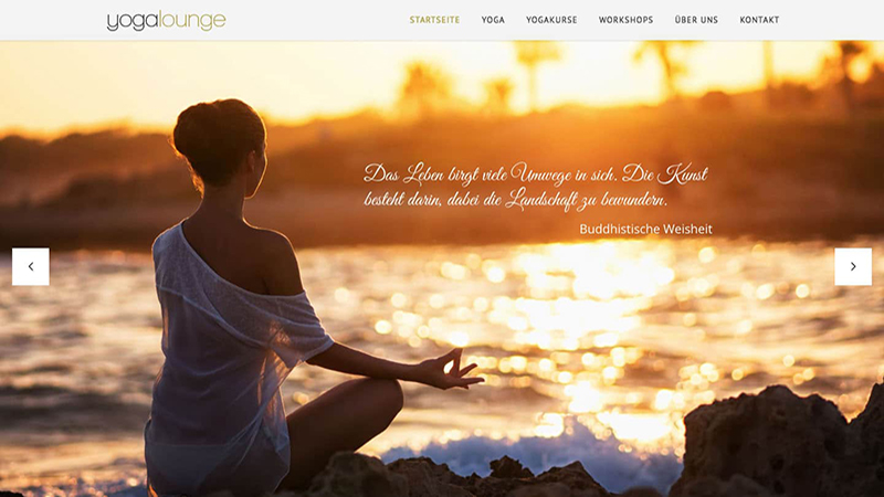Webdesign Yoga Hamburg