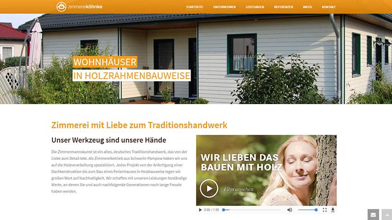Website Schwerin Gestaltung