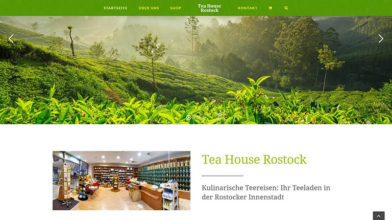 Webdesign Tea House Rostock