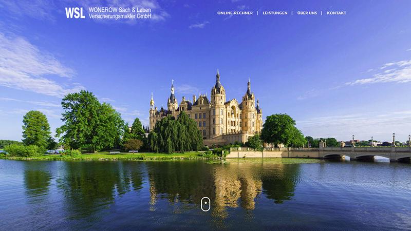 Webdesign: WSL WONEROW Sach & Leben Versicherungsmakler GmbH