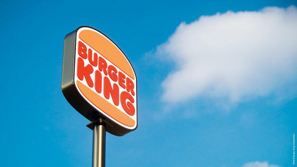 Beschilderung Burger King Rebrand
