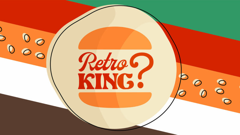 Retro King Burger King Neues Logo