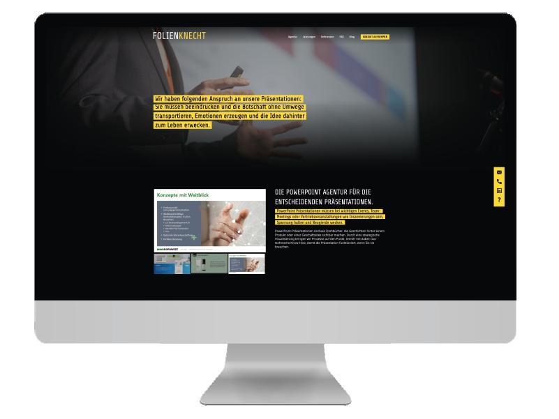 Erstellung Webseite Folienknecht pxmedia Webdesign