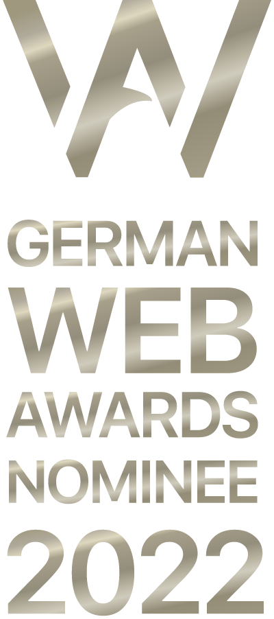 Nominiert für die German Web Awards
