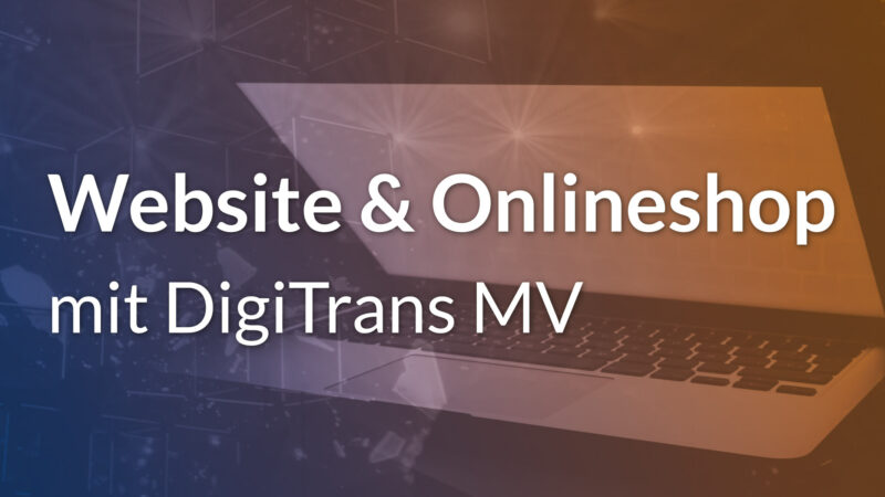 DigiTrans MV Förderung Werbeagentur Pxmedia Gestaltung Agentur Webdesign Webseite Website Onlineshop